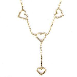 Jewelry - Rhinestone Heart Gold Waist Chain